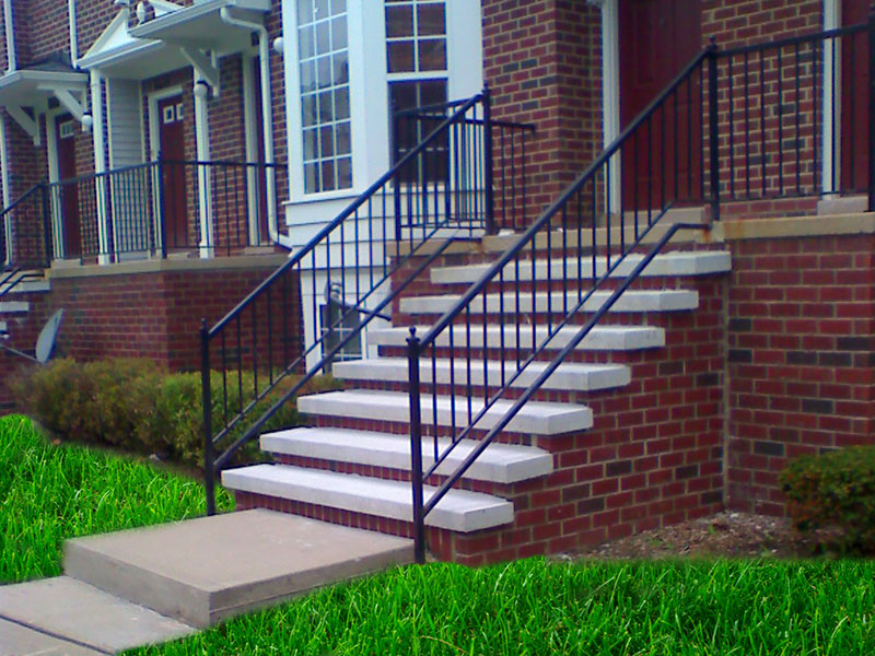 Prefab outdoor stairs exterior stair stringersfast stairs for Pre built stairs