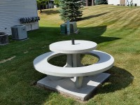 Concrete Picnic Table Round
