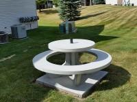 Concrete Picnic Table Round