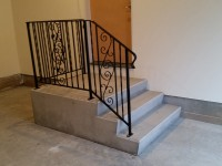 Garage Steps and Railing